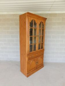Thomasville New American Oak Lighted Wall Cabinet 80 H X 36 W