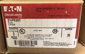 Crouse Hinds Enp5201 20 Amp 120v Plug Ark Guard New Explosion Proof