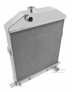 1942 1948 Ford Coupe Radiator For Chevy Motor Champion 4 Row Polished Aluminum