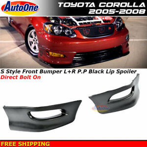 For 05 08 Toyota Corolla Rh And Lh Replacement Front Lower Valance Lip Spoiler