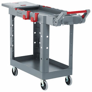 Rubbermaid Commercial Products 1997207 Heavy Duty Adaptable Utility Cart Gray