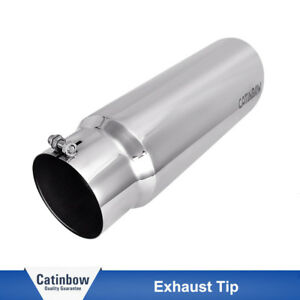 Bolt On Diesel Stainless Steel 5 Inlet 6 Outlet 18 Long Exhaust Tip Fast