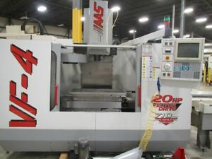 Haas Vf 4 Vertical Machining Center With Pallet Changer Haas Control