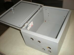 Hoffman C sd16128 Steel Enclosure No Backing Plate Has Holes As Shown 3