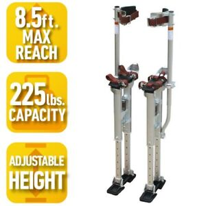 Adjustable Height Drywall Stilts 18 In To 30 In Professional Metal Leg Tool