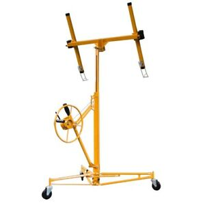 Drywall And Panel Hoist Professional Heavy Duty Steel Frame Metal Rolling Tool