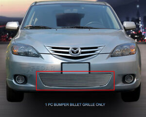 Fedar Lower Bumper Billet Grille For 2004 2006 Mazda 3 Sport Hatchback polished