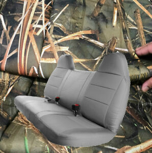 F series Automotive Thick Muddy Water Camo Bench Seat Cover Molded Headrest