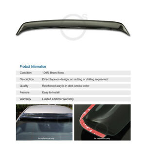 Scion Tc 2011 2012 Rear Smoke Window Sun Rain All Weather Visor Deflector 2ar fe