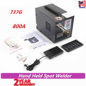 737g Spot Welder Battery Hand Held Sunkko With Pulse current Display 800a 110v
