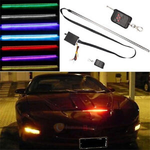 7 Color 56cm 48 Led Knight Rider Flash Strobe Scanner Neon Strip Light Remote