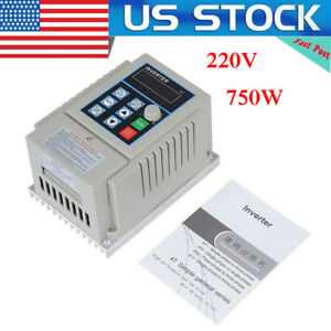 220v 750w Single To 3 phase Motor Governor Variable Frequency Drive Inverter Cnc