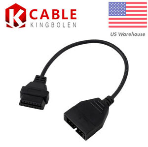 Usa 12 Pin Obd1 To 16 Pin Obd2 Convertor Adapter Cable For Gm Diagnostic Scanner
