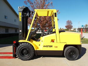 2008 Yale Gdp120 Fork Forklift Hilo 12000lb Pneumatic Lifttruck Lift Hyster