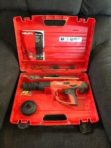 Hilti Dx 460 Powder Actuated Tool Kit In Plastic Case With X 460 f8