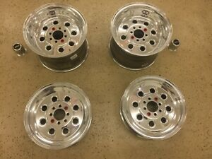Weld Racing Draglite Polished Wheels Set Of Four Mustang Fox Body