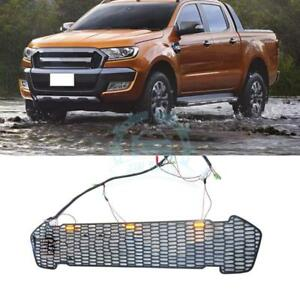 For Ford Ranger T6 2015 2016 Mesh Cover Car Front Grille Grill Newest Style