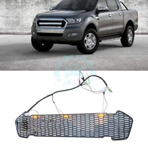 For Ford Ranger T6 2015 2016 Plastic With Yellow Led Chromed Front Grille