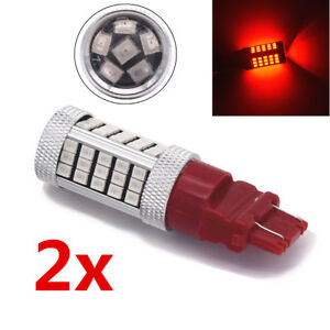 3157 Led Red Brake Flash Strobe Tail Stop Blinker Rear Alert Safety Light Bulbs