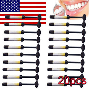 20 Dental Temporary Light Cure Curing Filling Material Resin Syringe Teeth Inlay