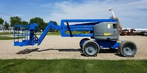 2012 Genie Z45 25j Articulating Telescopic Man Boomlift All Terrain Diesel Jib