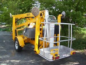 2015 Haulotte 4527a Towable Boom Lift Manlift 51 Height Low Run Hours 232 9