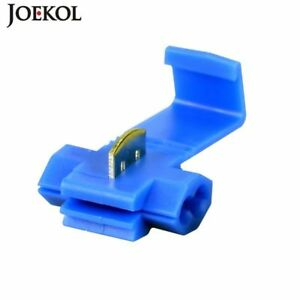 Blue Scotch Lock Wire Connectors Quick Splice Terminals Crimp Electrical For Awg
