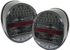 Black Smoked Color Finish Led Tail Rear Lights For Vw Old Beetle From 72 85