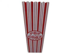 35 Oz Red Striped Popcorn Bucket 20 Packs
