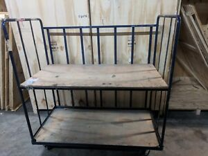 Industrial Portable Work Cart 2 Shelves 62 x60
