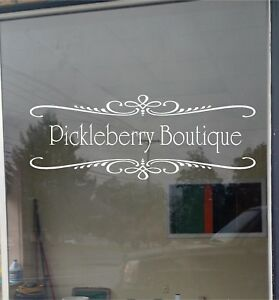Custom Business Store Name Sign Vinyl Decal Sticker Window Door Glass 18x48