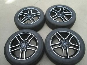18 Ford Mustang Black Wheels Rims And Pirelli P zero Tires New Take Offs
