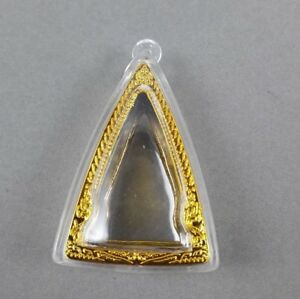 Lot 5 Pcs Acrylic Frame Case Amulet Casing Solid Gold Thai Buddha Lp Phra