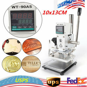Manual Digital Hot Foil Stamping Machine Leather Plastic Bronzing 10x13cm Hot