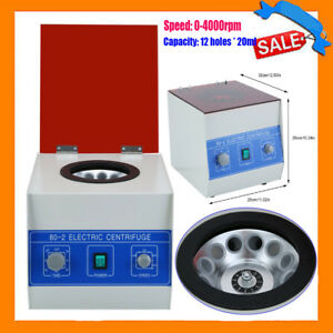 80 2 Electric Benchtop Centrifuge Lab Medical Practice 4000rpm 12 200ml Bh