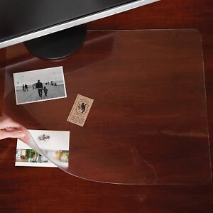 Es Robbins Rectangle Desk Pad 19 inch By 24 inch Clear Pack Of 3