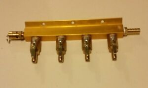 4 Way Air Manifold W safety Taprite Home Beer Dispensing
