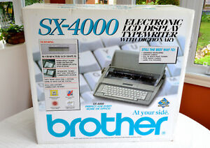 New Brother Sx 4000 Electronic Lcd Display Typewriter With Dictionary