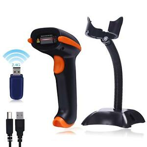 Tera Barcode Scanner Wireless Versatile 2 in 1 2 4ghz Wireless usb 2 0 Wired