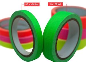 8 pack Professional Uv Gaffer Tape Both 1 2in X 50ft 1in X 50ft 2 Green 2