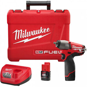 Milwaukee Electric 2454 22 M12 Fuel 3 8 Square Drive Impact Driver