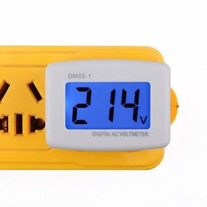 Flat Plug Ac 80 300v Voltage Panel Power Line Volt Test Monitor Gauge Voltmeter