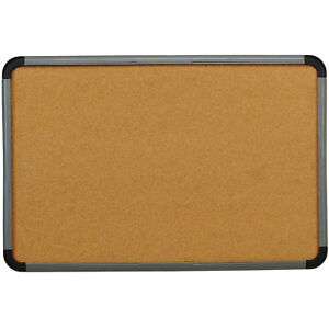 Iceberg Cork Bulletin Board With Blow Mold Frame 48 w X 36 h Charcoal Lot Of
