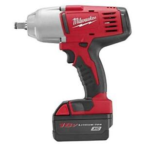 Milwaukee Mlw2663 22 M18 Fuel Cordless 1 2 High Torque Impact Wrench Kit