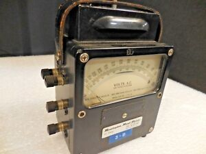 Weston Electrical Instruments Zero Corrector Ac Volts Panel Meter vintage