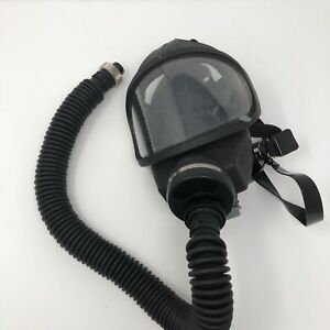 New Msa Ultraview Gas Mask Full Face Mask Black W Adjustable Straps