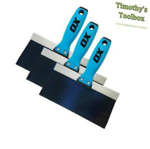 Ox Pro Taping Knife Blue Steel 8 10 12 Pack