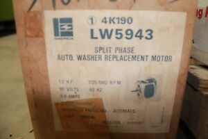 Emerson Lw5943 Washer Motor 1 2hp 115v 1725 1140rpm