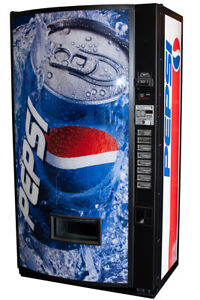 Vendo V407 Single Price Soda Vending Machine With Pepsi Graphic