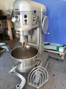 Hobart 80 Qt Mixer Bowl Paddle And Dough Hook Model L 800 2 Hp 3phs 200v